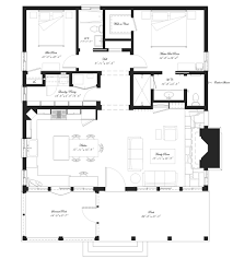 Floor Plan For Small House by Southern Style House Plan 2 Beds 2 Baths 1394 Sq Ft Plan 492 9