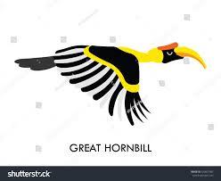 cartoon african hornbill bird vector cartoon stock vector