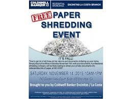 where to shred papers for free free paper shredding event encinitas ca patch