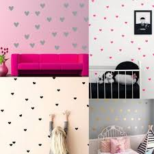 compare prices on heart wall stickers online shopping buy low mini hearts wall stickers 65pcs little hearts wall decals removable art mural home decoration nursery