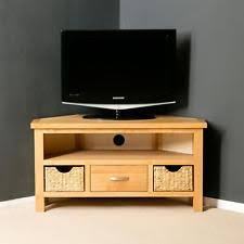 Oak Corner TV Cabinet EBay - Corner cabinets for plasma tv