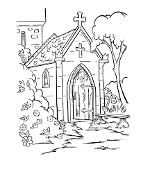 church coloring pages print fablesfromthefriends