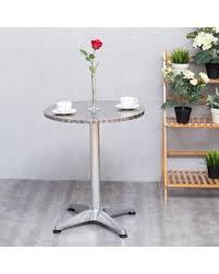 Aluminium Bar Table Spectacular Deal On Gymax Aluminium 23 1 2