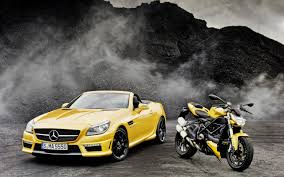 mercedes motorcycle 2012 mercedes benz slk 55 amg ducati streetfighter 848 superbike