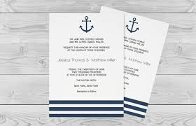 nautical wedding invitations nautical wedding invitation template 5 x 7 navy anchor striped