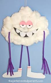 paper plate craft inspired by cloud guy character from the