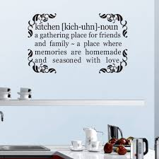 aliexpress com buy kitchen quote decal a gathering place for aliexpress com buy kitchen quote decal a gathering place for friends and family home wall quote sticker vinyl art 58