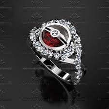 pokeball engagement ring pokeball solid white gold ring