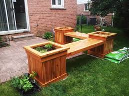 Backyard Bench Ideas Patio Bench With Planters Unique And Wooden Bench With Planters