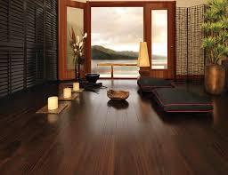 japanese living room wooden table on bronw rug white covered