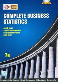 complete business statistics 7th edition buy complete business