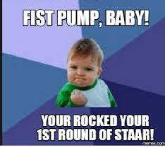 Baby Fist Meme - fist pump baby your rocked your 1stround of staar memes com