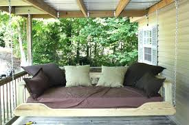 outdoor porch bed swing round home image ideas of picture daybed