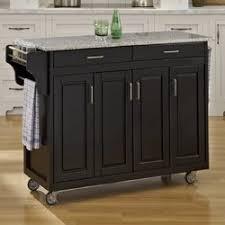 kitchen island with black granite top august grove regiene kitchen island with granite top reviews
