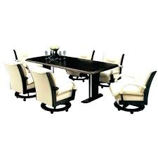 rolling dining room chairs rolling dining chairs astounding dining chair casters room chairs