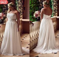 discount plus size lace beach wedding dresses 2016 big girls