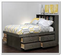 Bed Platform With Drawers Excellent Storage Bed With Headboard Clandestin Intended For