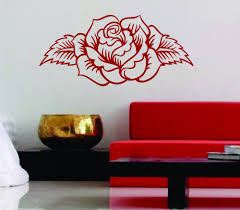 dabbledown decals rose design decal sticker wall mural vinyl ems 102 image of rose design decal sticker wall mural vinyl ems 102