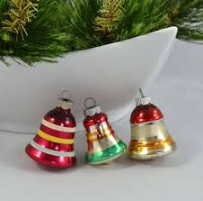 vintage shiny brite bell ornaments small glass
