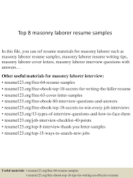 Construction Worker Sample Resume by Construction Laborer Free Sample Resume Youtuf Com