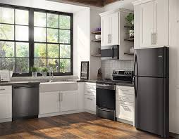 kitchen with stainless steel appliances frigidaire gallery black stainless steel appliances connection