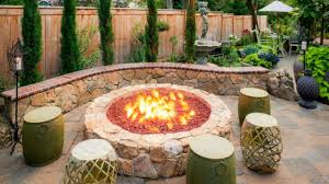 Backyard Ideas Patio by Captivating Backyard Landscaping With Fire Pit Wli Inc