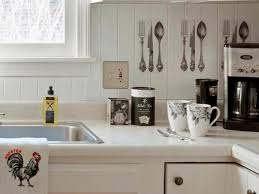 Wainscoting Backsplash Kitchen Unique Silverware Decal And White Wainscoting Backsplash For