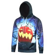 cool mens halloween hoodies 3d pumpkin printed casual hooded