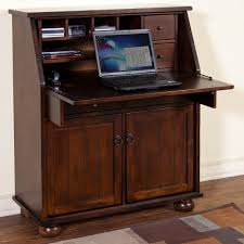 Secretary Desk With Drawers by Drop Leaf Laptop Desk Armoire By Sunny Designs Wolf And Gardiner