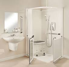 Disabled Half Height Shower Doors Impress Disabled Half Height Corner Shower Cubicle Ideal For