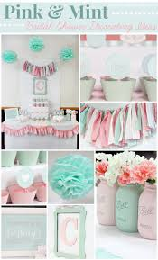 chocolate brown and mint green baby shower decorations pink mint