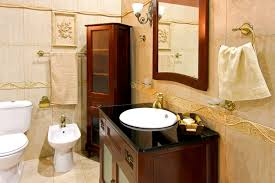 ideas for bathroom decorating theme with luxury golden faucet and