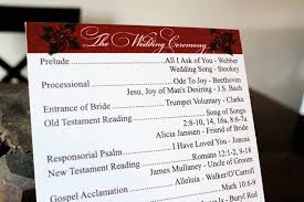 christmas wedding programs ek designs christmas wedding program illinois