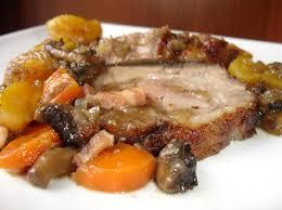 cuisiner roti de porc recette rôti de porc aux fruits secs moelleux cuisinez rôti de porc