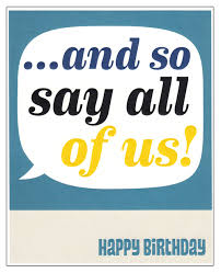 and so say all of us happy birthday u0027 card