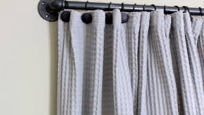 Curtain And Rod How To Make A Diy Industrial Pipe Curtain Rod Angie S List