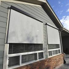 Home Depot Shades And Blinds Uv Blocking Outdoor Shades Shades The Home Depot