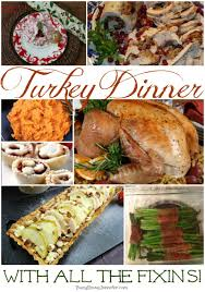 turkey dinner with all the fixins busy being