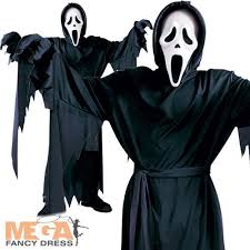 Halloween Death Costume Unisex Ghost Face Child Size 12 Costume