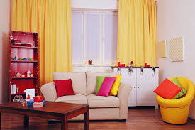 Bright Orange Curtains Spring Window Fashions