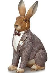 rabbit home decor hare rabbit bunny ornament home decor gift statue figurine garden