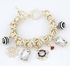 charm bracelet pearl images Amanda nautical charm bracelet png