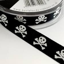 skull ribbon ribbon creative craft supplies for glitz shimmer