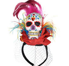 day of the dead headband day of the dead floral headband party city