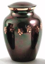 pet urn classic paws raku pet urn small
