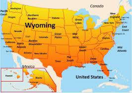map usa showing wyoming wyoming map usa my