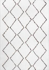hand tufted geometric moroccan shag rug scandinavian area rugs