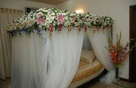 bridal bedroom design with classic theme beautiful bed decoration