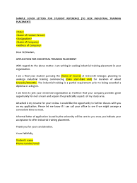 Sir Or Madam Cover Letter Example Of Application For Industrial Training Placement