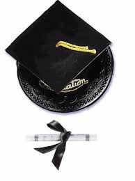 graduation cap cake topper black graduation hat diploma cake topper decoration